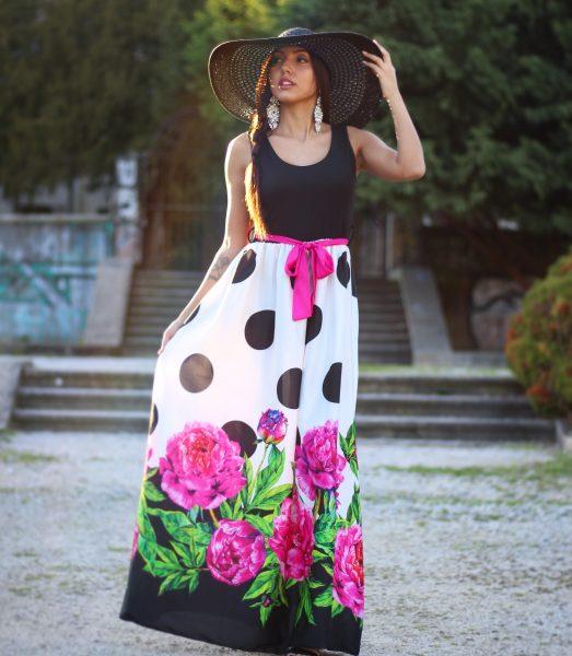 "Šaty ""Dots & Roses"""